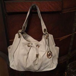 "Michael Kors cream handbag bag 14x9x5"""